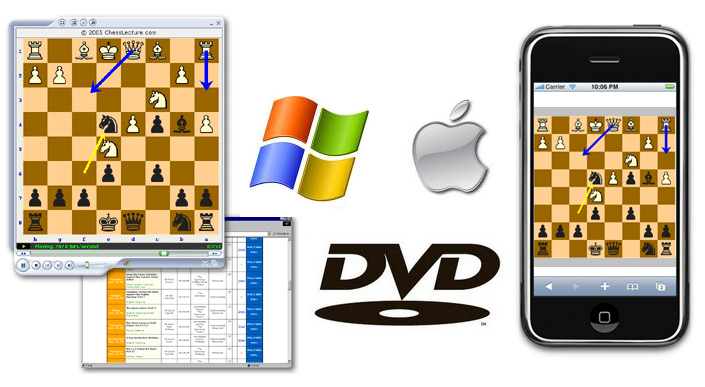 Watch chess videos on Windows, Mac, iPhone or DVD!